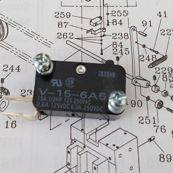 TF-006 Micro Switch Para Flejadora Semiautomática